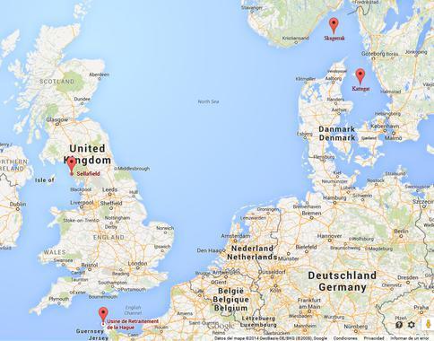 Las plantas nucleares de Francia e Inglaterra vierten isótopos radiactivos a Escandinavia