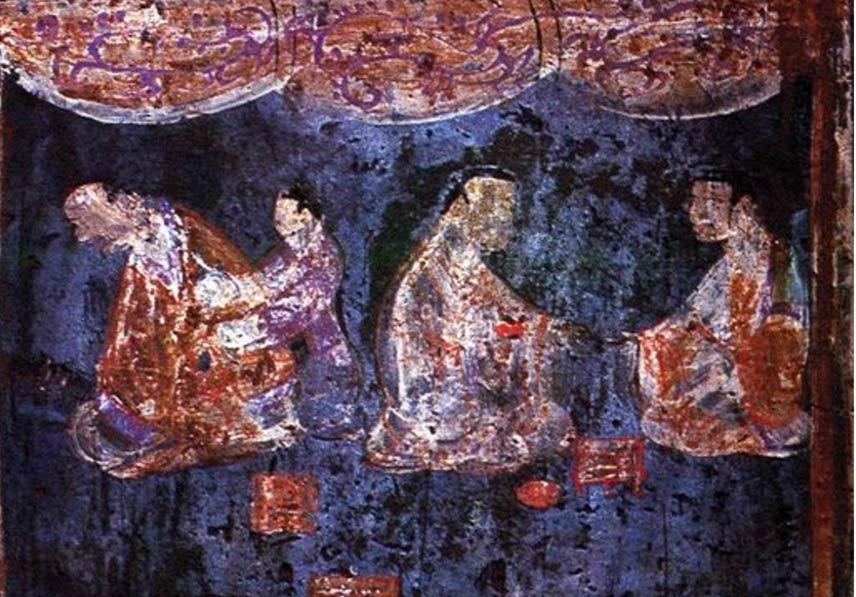 mural from an Eastern Han tomb artificial pigment - Han púrpura: A 2.800 años pigmento artificial que los físicos cuánticos están tratando de entender
