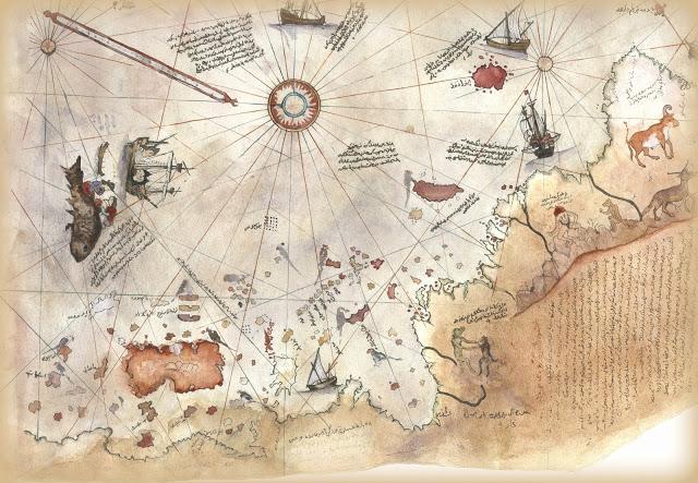 Piri Reis Map Detail - Mapas antediluvianos: Evidencia de civilizaciones avanzadas antes de la historia escrita #Antediluviano #PiriReis