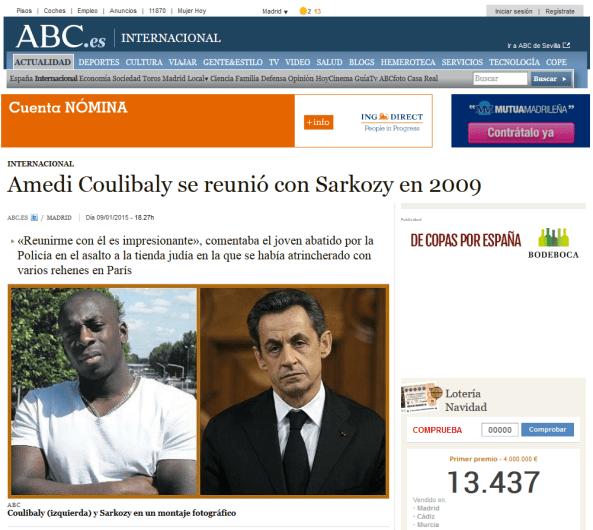 captura coulibaly sarkozy - LA MANIPULACIÓN DE LOS MEDIOS DE COMUNICACIÓN EN EL TIROTEO DE PARIS