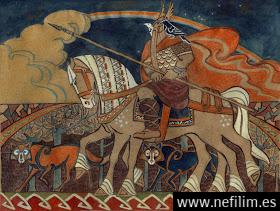 loki child  odin with his pets by unita n d5hs7ne - Las runas del segundo Aettir
