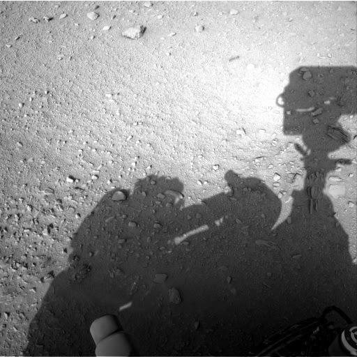 Astronauta captado junto al curiosity