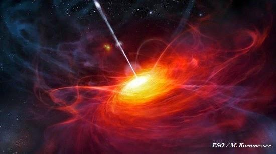 Impresionante agujero negro superpesado, 12.000 millones de veces el Sol