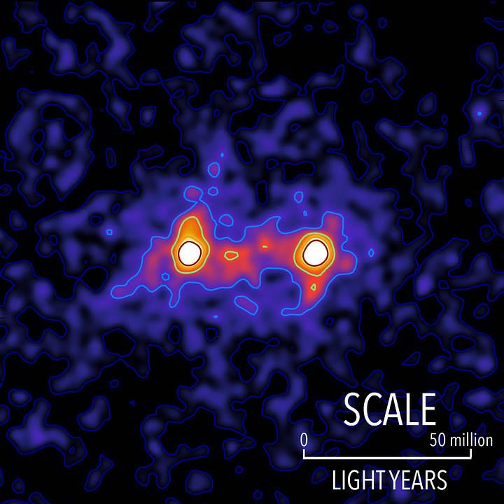 Investigadores capturan la primera imagen de la materia oscura que conecta galaxias