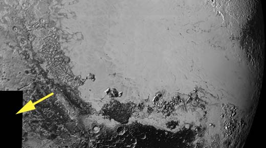 ¿A que es debido que la NASA ha oscurecido 14.000 kilómetros de la superficie de Plutón?