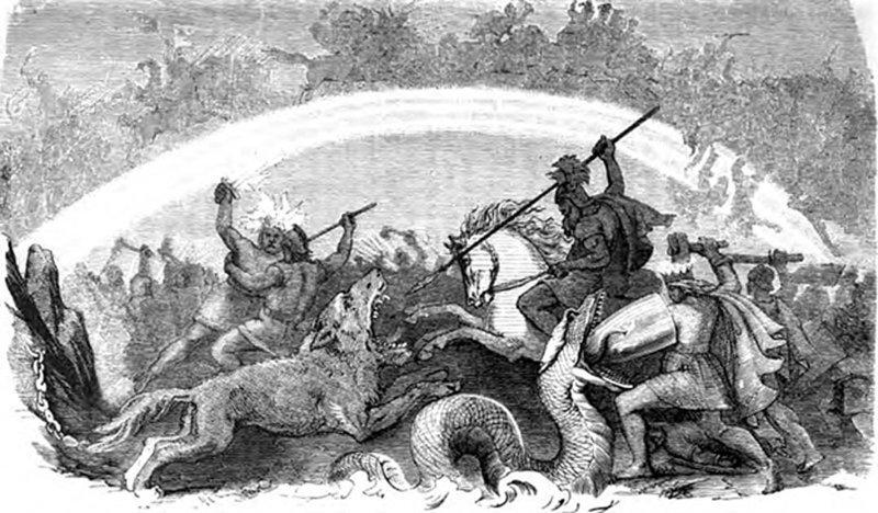 Batalla dioses condenados - Una batalla épica entre el Bien y el Mal: El mito nórdico de Ragnarök y el Crepúsculo de los dioses