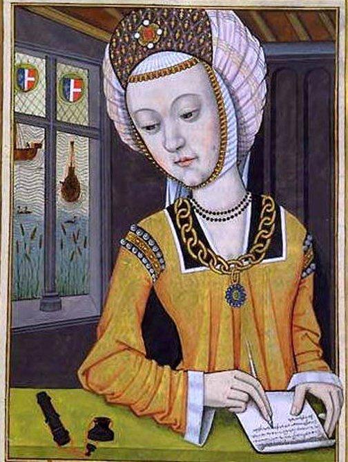 Retrato de Hipsipila, primera esposa de Jasón, obra de Octavien de Saint-Gelais (Dominio público)