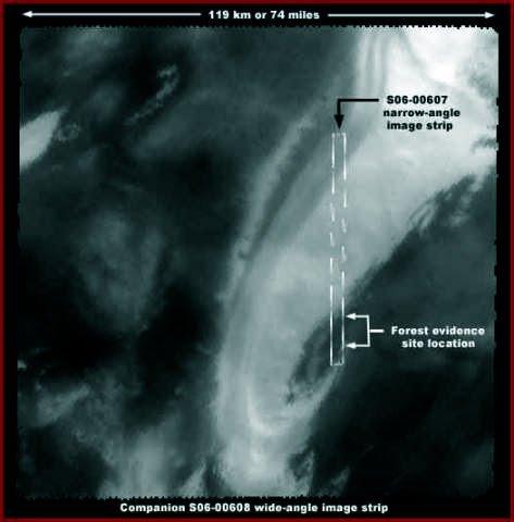 """6 115 regional image - Vegetación en: """"El polo sur de Marte""""."""