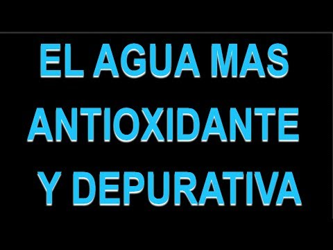 El agua más antioxidante y depurativa que existe