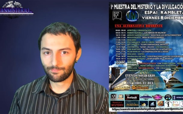 Próximo 8 Diciembre conferencia en Valencia con Salvador Freixedo