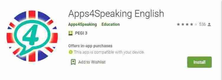 تطبيق الأجهزة الذكيّة Apps4Speaking