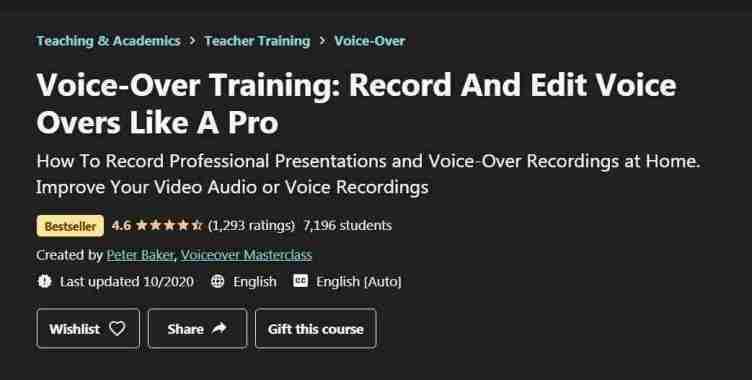 كورس Voice-Over Training: Record And Edit Voice Overs Like A Pro