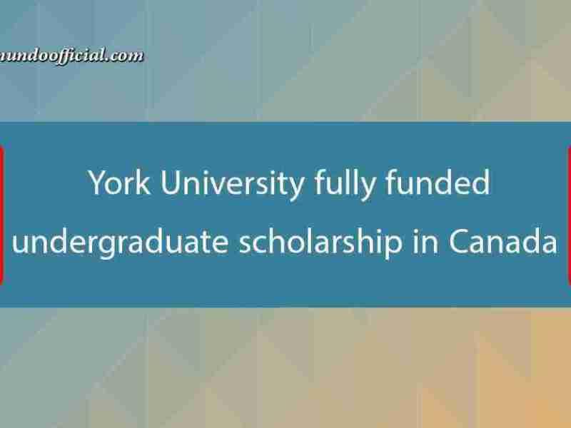York University fully funded undergraduate scholarship in Canada