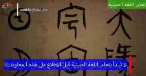 8 نقاط جوهرية يجب معرفتها قبل البدء بتعلم اللغة الصينية !