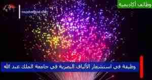 وظيفة في استشعار الألياف البصرية في جامعة الملك عبد الله بمنصب باحث ما بعد الدكتوراه