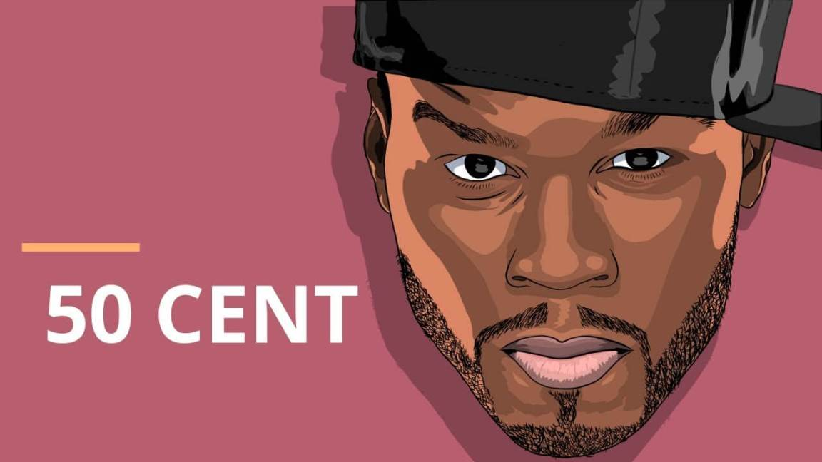caricatura do 50 cent