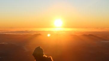 por do sol e gratidão