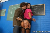 Big Tits At School - Spanish Teacher Loving