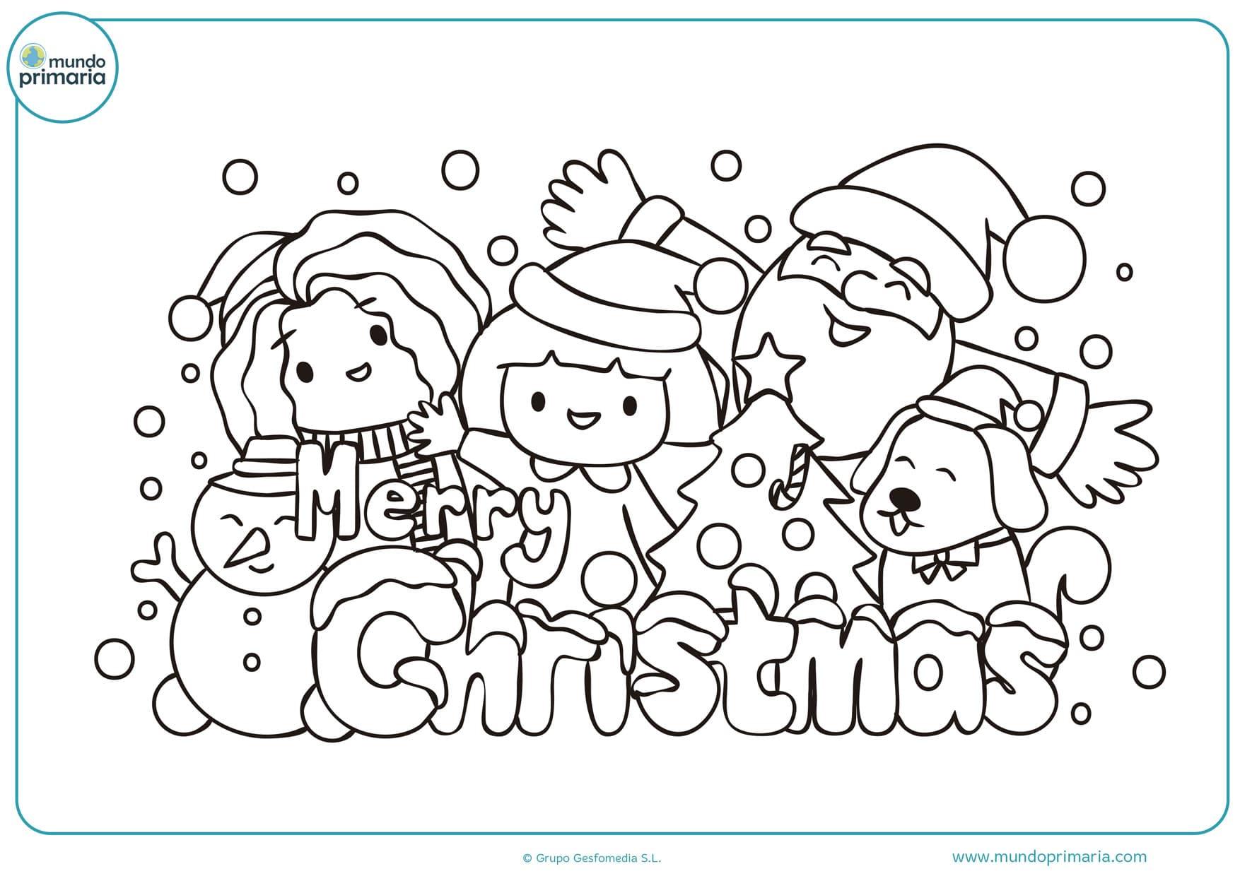 Feliz Navidad Dibujos De Navidad Para Colorear E Imprimir Grandes