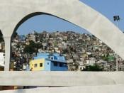 The Passarela Niemeyer funded by the PAC program - Rocinha, Rio de Janeiro