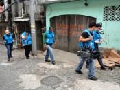 Reporters in Rocinha