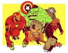 Zombie Avengers by Dan Hipp