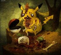 Zombie Pikachu by berkozturk