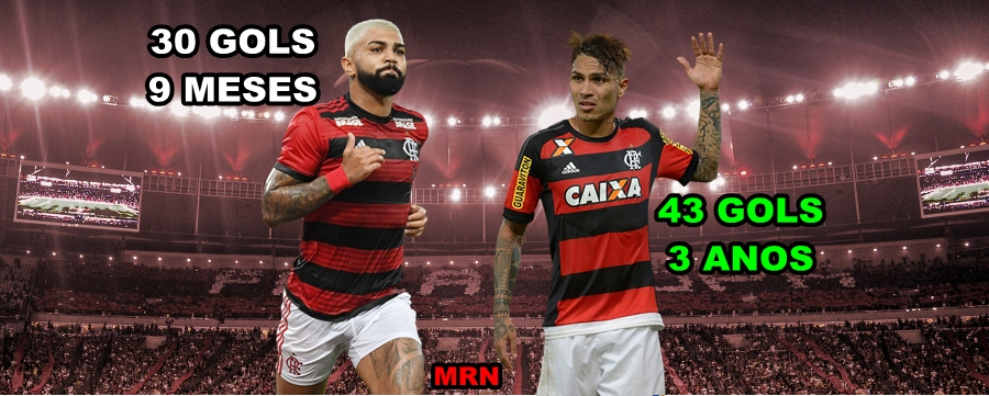 Três anos: 43 gols, nove meses: 30 gols; faltam 13 para Gabigol igualar a marca de Guerrero pelo Flamengo