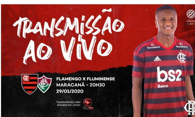 Flamengo x Fluminense: acompanhe a transmissão da Fla TV AO VIVO