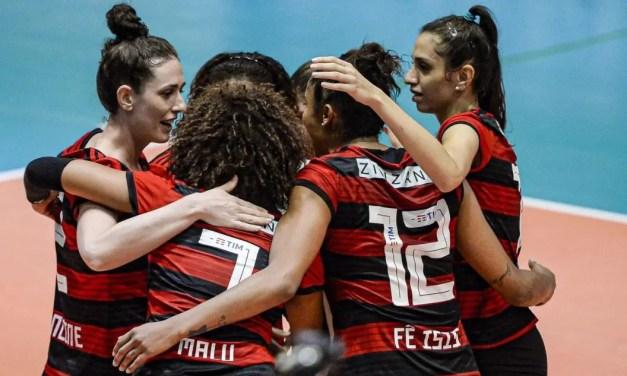 De virada, Flamengo conquista terceira vitória na Superliga Feminina, mas segue na zona de rebaixamento