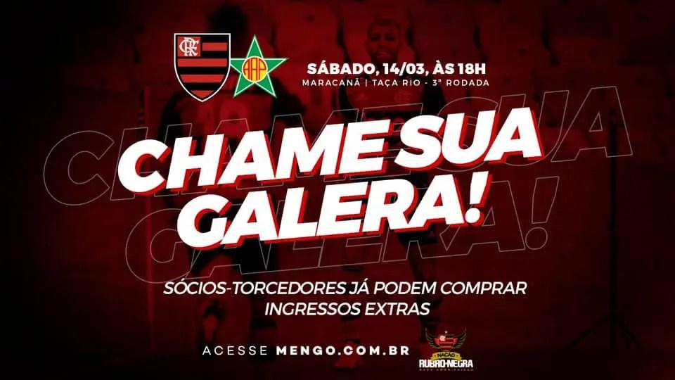 """""""Vem pro Maraca"""": na contramão do mundo, Flamengo convoca torcida"""