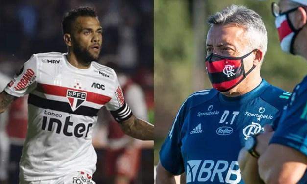 Dani Alves elogia novo técnico do Flamengo: 'Vivemos momentos incríveis'