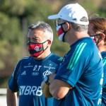 Pressão, posse e intensidade: os treinos do Domènec na primeira semana de Flamengo