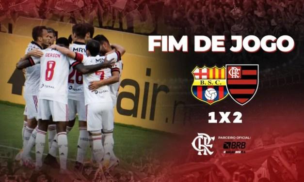 Assista os gols da vitória do Flamengo por 2 a 1 contra o Barcelona