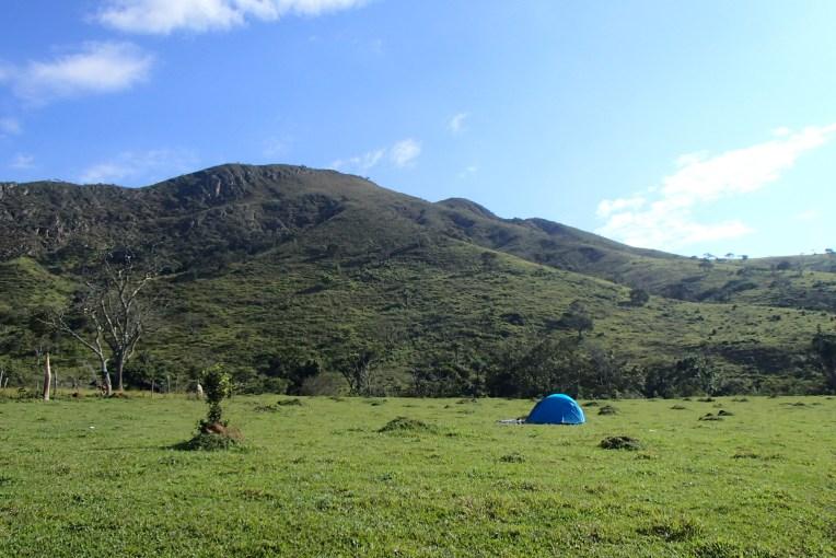 Acampando no camping da Picareta, na Serra da Canastra