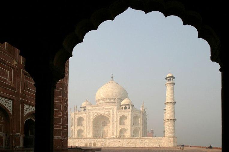 Enquadramento do Taj Mahal.