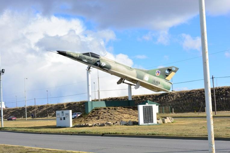 Avião usado na Guerra das Malvinas em Río Grande