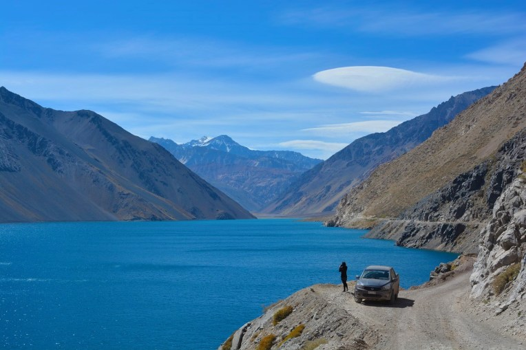 Embalse el Yeso, pertinho de Santiago