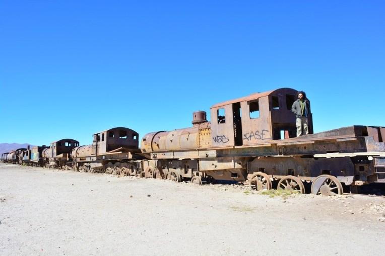 Cemitério de trens em Uyuni