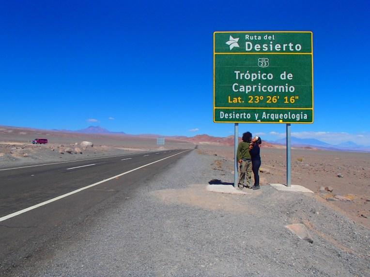 Trópico de Capricórnio, no Deserto do Atacama