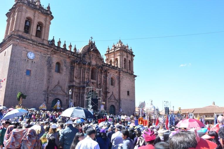 Catedral de Cusco durante o Corpus Christi