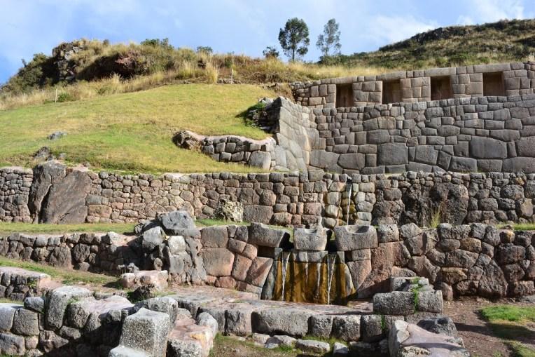 Fonte de água do Baño del Inca, Tambomachay.