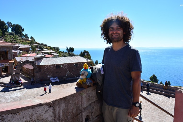 Vista da ilha de Taquile, no Titicaca