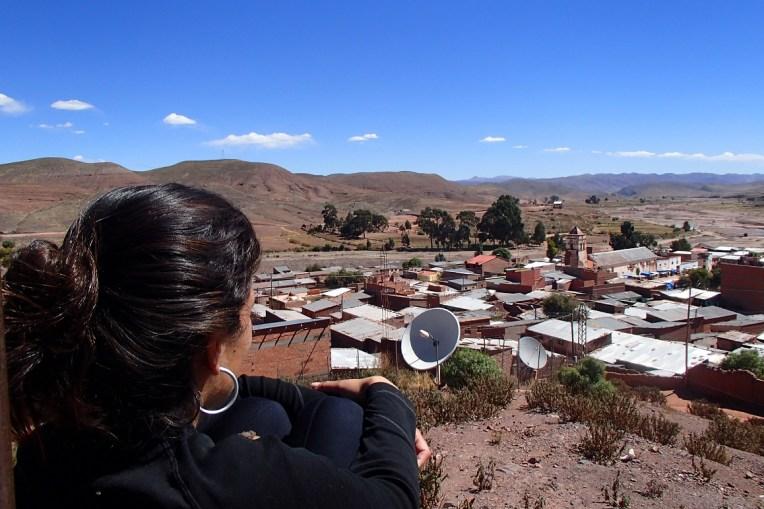 Pequena cidade de Macha, onde ocorre o Tinku