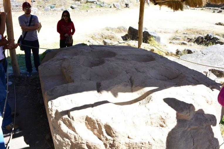 Pedra usada pelos sábios de Chavín para fazer observações astronômicas
