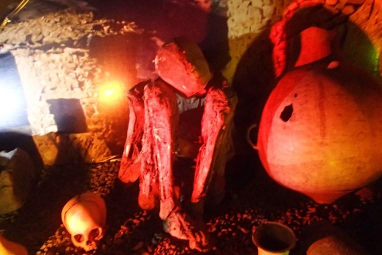 Múmias no museu sítio de Qoricancha