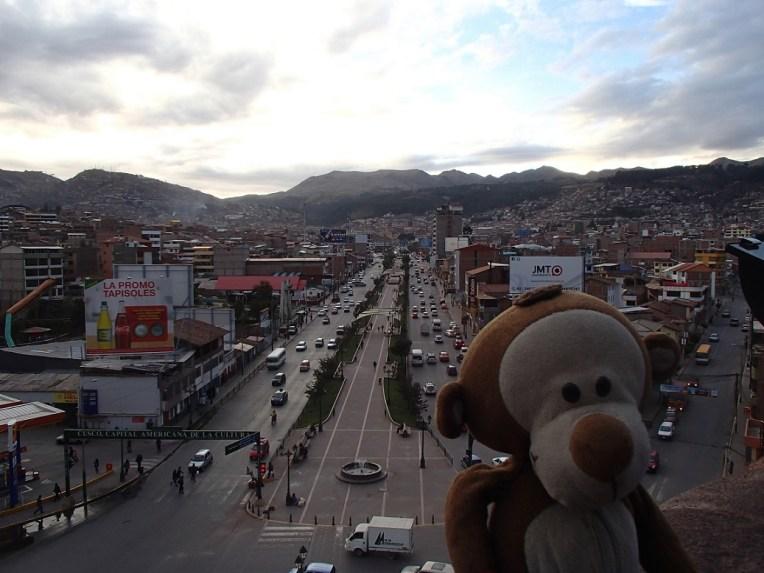 Cusco vista do Monumento a Pachacuteq