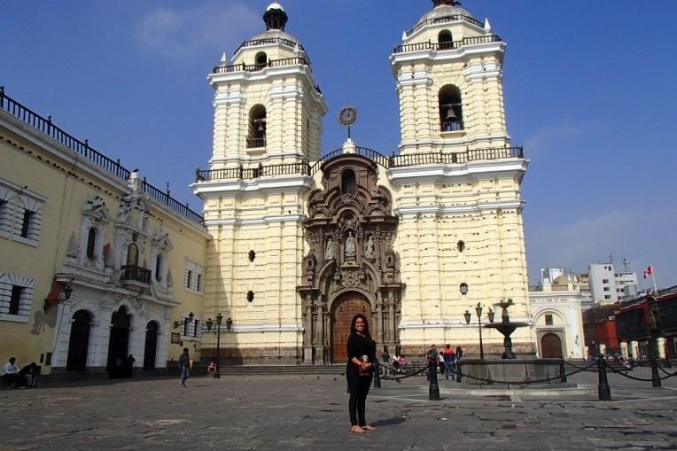 Igreja de San Francisco, um dos edifícios que fazem parte da lista de Patrimônios da UNESCO no centro de Lima