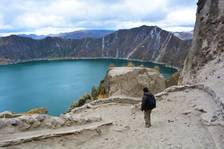Trilha para a Lagoa Quilotoa