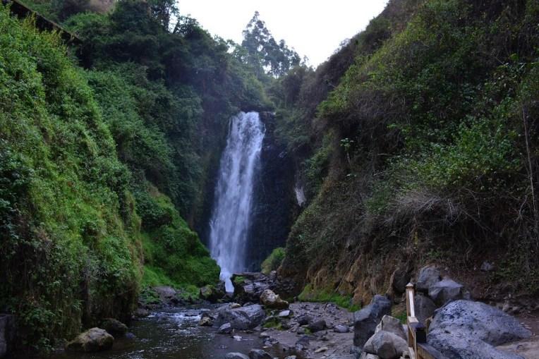 Cachoeira de Peguche, pertinho de Otavalo
